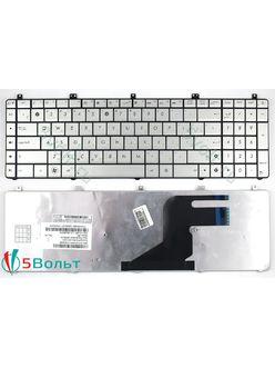 Клавиатура для ноутбука Asus N55, N75 серебристая