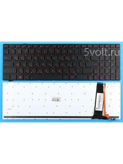 Клавиатура для ноутбука Asus G550Jk черная с подсветкой