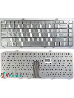 Клавиатура для ноутбука Dell Inspiron 1318, 1420 серебристая