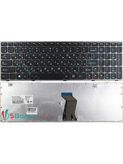Клавиатура для ноутбука Lenovo G580, G585 черная с серой рамкой