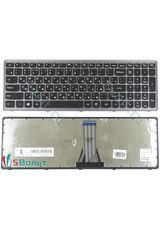 Клавиатура для Lenovo IdeaPad Z510 черная с серой рамкой