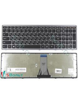 Клавиатура для ноутбука Lenovo IdeaPad Z510 черная с серой рамкой