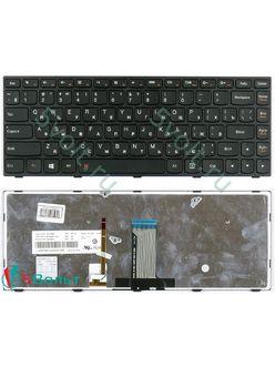 Клавиатура для ноутбука Lenovo G40-30, G4030 черная с подсветкой