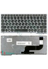 Клавиатура для Lenovo Yoga 11s черная с серой рамкой
