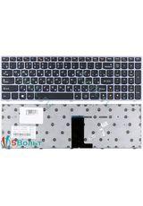 Клавиатура для Lenovo IdeaPad B5400 черная с серой рамкой