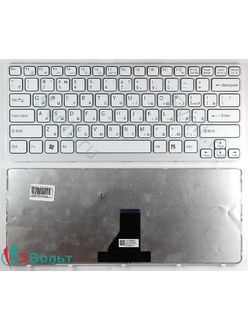 Клавиатура для ноутбука Sony Vaio SVE1411E1R, SVE1412E1R, SVE1413E1R белая