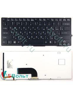 Клавиатура для ноутбука Sony VPC-SB, VPCSB серии черная с подсветкой