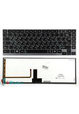 Клавиатура для Toshiba U920, U920T, U940 черная с подсветкой