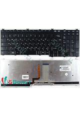 Клавиатура для Toshiba L350, L500, L550 черная с подсветкой