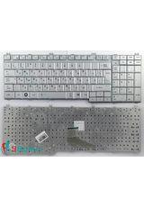 Клавиатура для Toshiba L350, L500, L550 серебристая