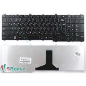 Клавиатура для Toshiba C650, C650D черная глянцевая