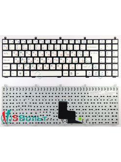 Клавиатура для ноутбука DNS W765S, W765Sun, W765K белая