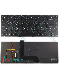 Клавиатура для ноутбука Acer Aspire M5-481PTG, M5-481TG черная с подсветкой