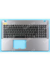 Клавиатура для Asus X550C черный топкейс с серой рамкой