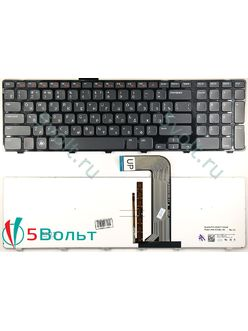 Клавиатура для ноутбука Dell Inspiron 17R N7110 черная с подсветкой