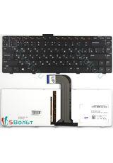 Клавиатура для Dell Inspiron N4040, N4050, N4110 черная с подсветкой