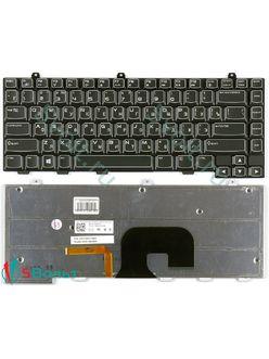 Клавиатура для ноутбука Dell M14X черная с подсветкой