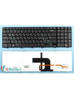 Клавиатура для ноутбука Dell Inspiron 3721 черная с подсветкой