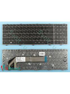 Клавиатура для ноутбука HP Probook 4540s черная с серой рамкой