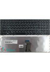 Клавиатура для Lenovo G570, G575 черная с серой рамкой