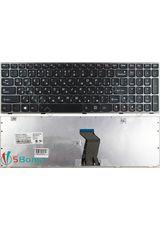 Клавиатура для Lenovo N580, N585 черная с серой рамкой