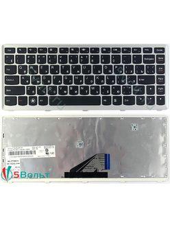 Клавиатура для ноутбука lenovo IdeaPad U310 черная с серой рамкой