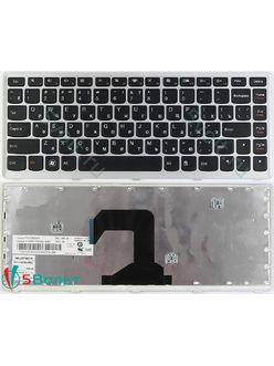 Клавиатура для ноутбука Lenovo IdeaPad U410 черная с серой рамкой