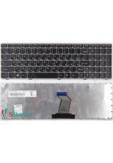 Клавиатура для Lenovo V570, V575 черная с серой рамкой