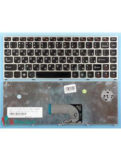 Клавиатура для ноутбука Lenovo IdeaPad U460 черная с серой рамкой