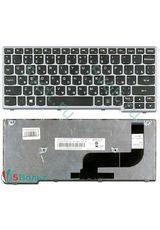Клавиатура для Lenovo IdeaPad S210, S210T черная с серой рамкой