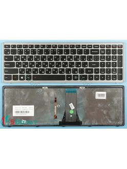 Клавиатура для ноутбука Lenovo IdeaPad S500 черная с подсветкой