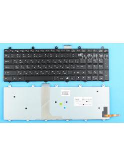 Клавиатура для ноутбука DNS 0151828 черная с подсветкой