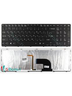 Клавиатура для ноутбука Sony Vaio SVE15, E15 серии  черная с подсветкой