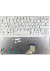 Клавиатура для Sony Vaio SVE1111M1E, SVE1111M1R белая