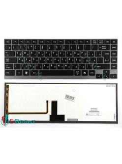 Клавиатура для ноутбука Toshiba Satellite U920, U920T, U940 черная с подсветкой