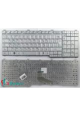 Клавиатура для Toshiba A500, A505, F501 серебристая