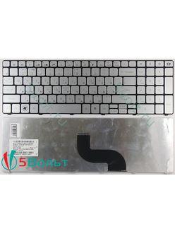 Клавиатура для ноутбука Packard Bell TE11, TE11HR, TE11HC серебристая