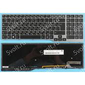 Клавиатура для Fujitsu Lifebook E753 черная с подсветкой