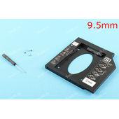 Переходник (адаптер, optibay) c DVD на HDD/SSD, толщина 9.5мм (пластик)
